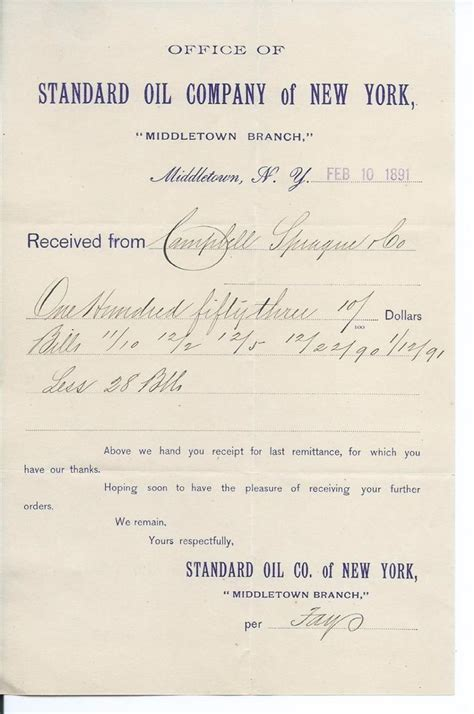 Letter Insurance Brownsville 1891 Receipt Standard Of Middletown Ny To Cbell Sprague Co For Sale On Ebay By