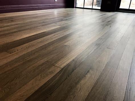 herringbone oak hardwood floor installation in