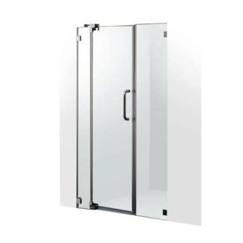 42 Shower Door by Vigo 42 In To 48 In X 74 In Adjustable Frameless Pivot