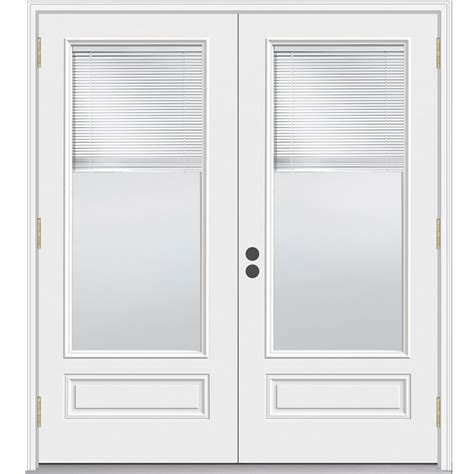 Lowes Patio Door Blinds Shop Jeld Wen 71 5 In Blinds Between The Glass Composite Outswing Patio Door At Lowes