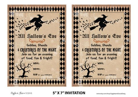 printable halloween invitations free halloween party printables from giggles grace