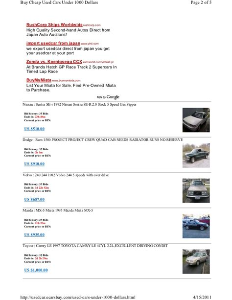 Billig Auto Kaufen by Cars For 1000 Dollars Html Autos Post