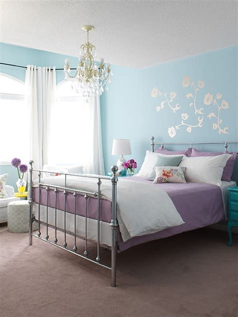 light purple bedrooms cottage blue designs blue and purple rooms why not
