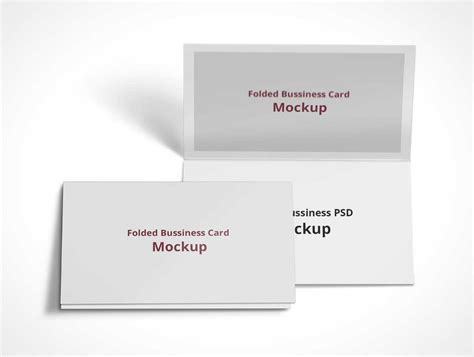 Folded Business Card Template Psd by Psd Mockups 14 64 Psd Mockups
