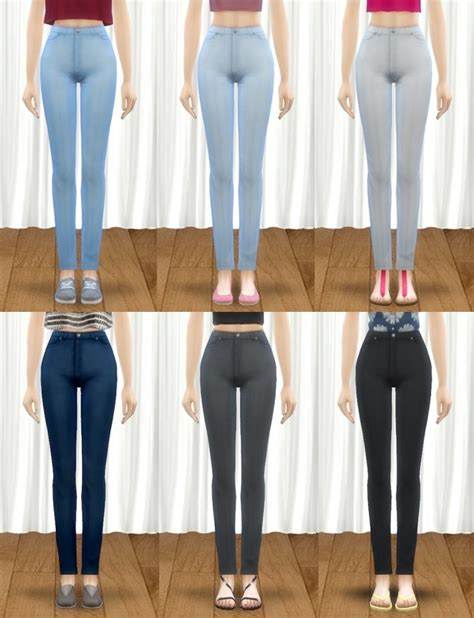 sims 4 high waisted jeans maxis match high waist denim skinny jeans at pickypikachu