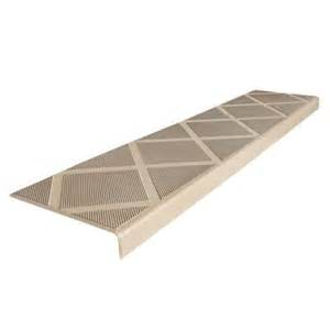 Wood Treads For Stairs Home Depot by Composigrip Composite Anti Slip Stair Tread 48 In Beige