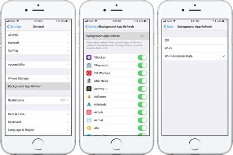 background apps iphone how to disable background refreshing for ios apps when on
