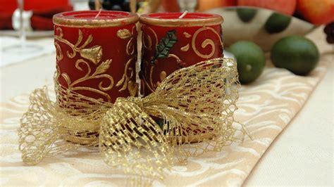 decoracion de navidad velas centros con velas para navidad color oro y bolas