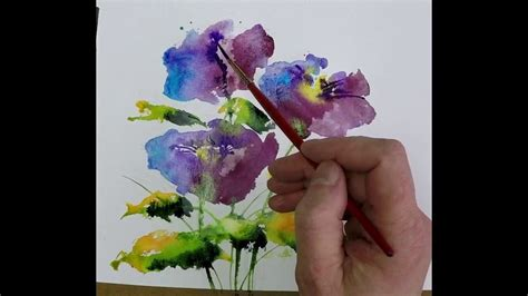 watercolor tubes tutorial beginners loose watercolours simple blue with andrew