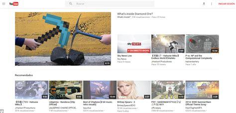 material design google youtube prueba en exclusiva el nuevo dise 241 o de youtube