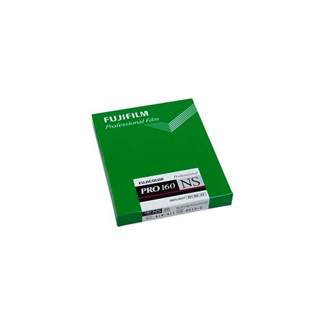fujifilm pro fuji pro 160ns sheet 10 2 x 12 7cm 4x5in 20