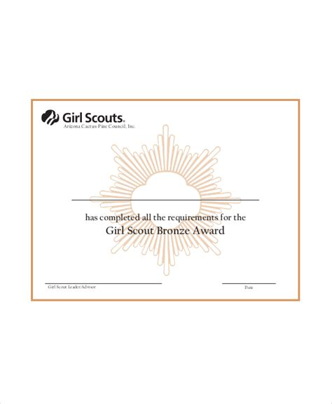 scout award certificate templates scout certificate template 5 free pdf documents