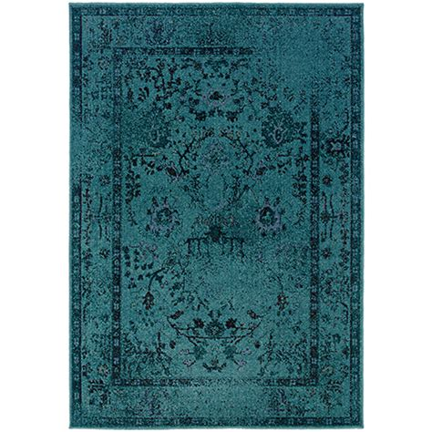Boscovs Rugs by Weavers Revivial Area Rug 550h Teal Boscov S