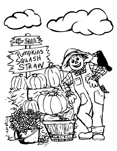 free printable fall themed coloring pages printable fall coloring page free large images