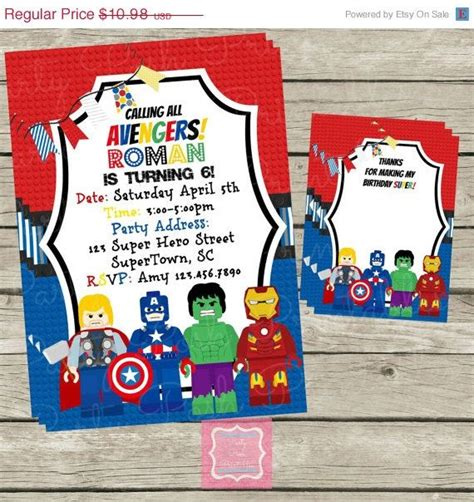 printable birthday card avengers on sale lego avengers invitations and thank by