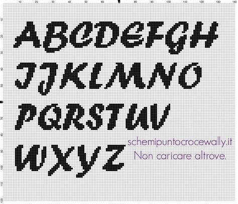 ricamo lettere punto croce alfabeto punto croce da ricamare carattere font forte