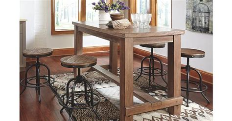 clearance counter height view all kitchen dining light brown pinnadel counter height dining room table view