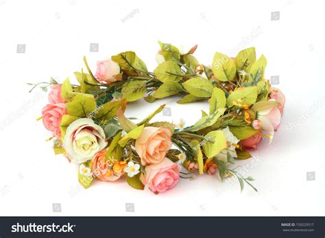 forest coronal or colorful flower crown isolated on