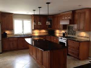 granite with cherry cabinets in kitchens cherry cabinets maple wood doors black granite counters