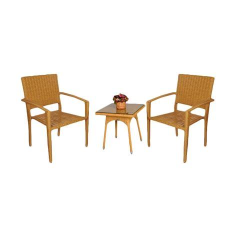 Kursi Rotan Set jual pine rotan set meja kursi teras honey harga kualitas terjamin blibli