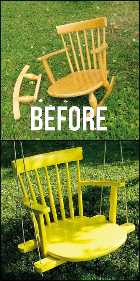 how to build a swing chair wonderful ways to repurpose old chairs the shabby creek