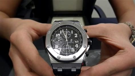 themes in black watch ap audemars piguet royal oak offshore 26020st chrono black