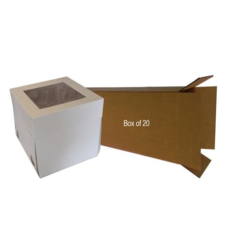 10 Inch Square Cake Box - 10 inch 25cm high cake box 25cm box of 25