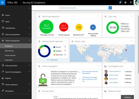 Office 365 Portal Browser Support Applying Intelligence To Security And Compliance In Office