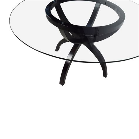 circular glass dining table 70 circular glass and wood dining table tables