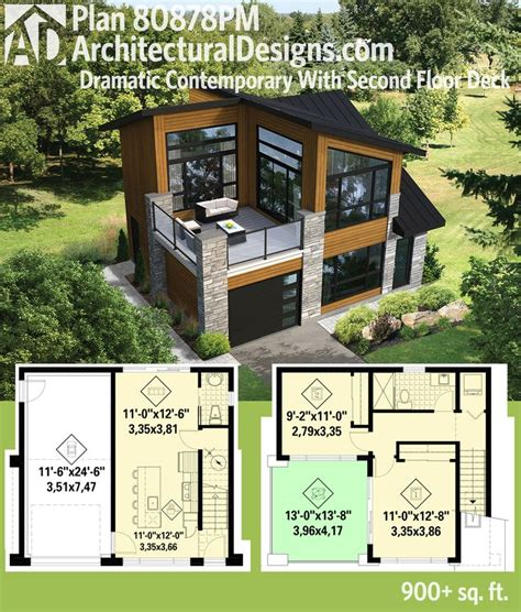 modern small house plans small house floor plans with loft plan 80878pm dramatic contemporary with second floor deck