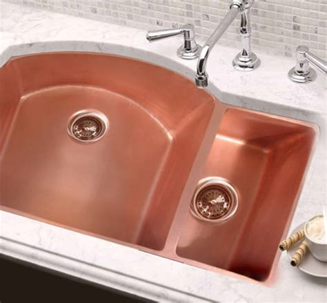 double copper kitchen sinks