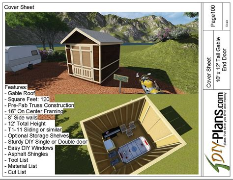 tall gable shed plan