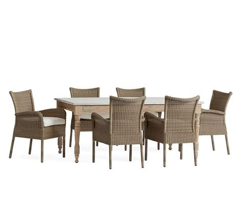 calistoga dining table all weather wicker chair