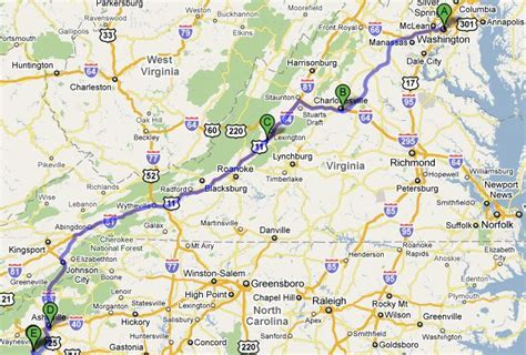 virginia and carolina map road trip imcomoves