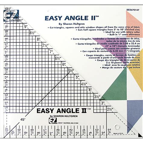 ez quilting templates ez quilting template easy angle ii