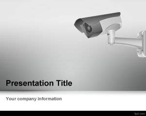free cctv camera powerpoint template