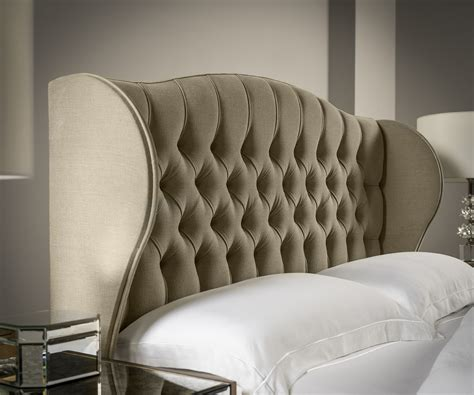 Upholstered Winged Headboard by Winged Chesterfield Headboard Upholstered Headboards Fr