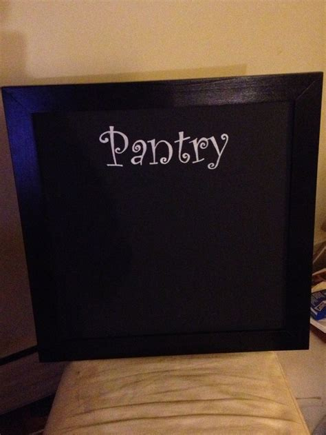 Here Is My Pantry Chalkboard Attempt Ikea Frame 1 Primer