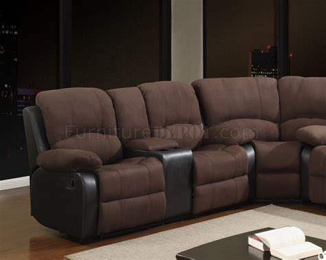 motion sectional sofa u1710 motion sectional sofa in chocolate fabric by global