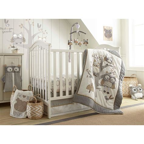 Bedding Sets For Nursery Baby Nursery Decor Excellent Baby Nursery Bedding Sets Owl Classic Shelf Wooden Brown Levtex