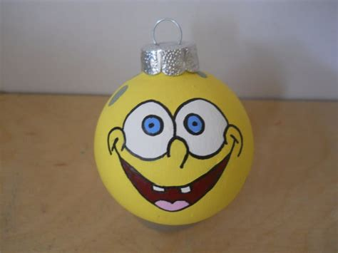 spongebob squarepants christmas ornament by gingerpots on