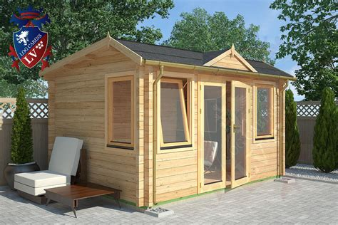 the summer clock house log cabin 4m x 3m