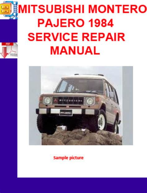 service and repair manuals 1995 mitsubishi pajero engine control mitsubishi montero pajero 1984 service repair manual pligg