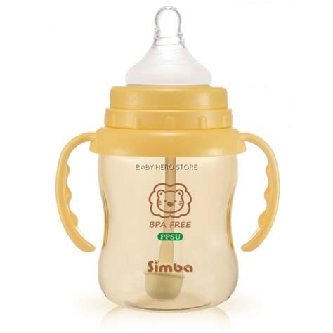 Simba Ppsu Wide Neck Calabash Feeding Bottle Whandle 200ml T1310 simba ppsu wide neck feeding bottle with auto straw handle 200ml baby store baby