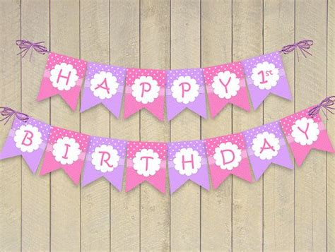 free printable birthday banner purple happy birthday banner bunting download and print flags