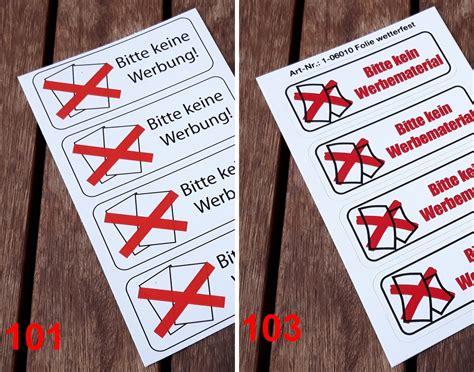Keine Werbung Aufkleber Post österreich by Bestellen Sie Die Aufklebersets Gegen Unerw 252 Nschte Werbung