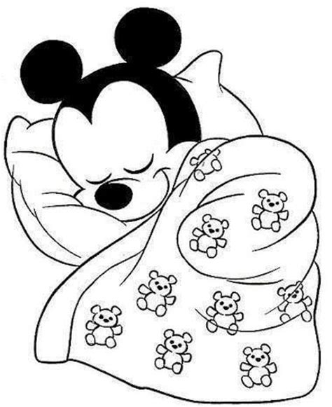sleeping mouse coloring page sleeping mickey motivos infantis pinterest