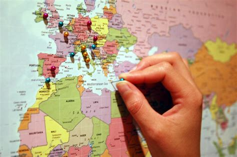 map of travels with pins workshop choosing a study abroad destination uvm bored