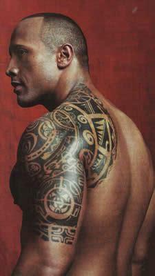 tatouage the rock, tatoo samoa, manchette tatouage