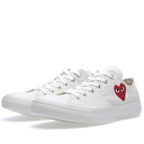 Harga Converse Cdg comme des garcons play x converse chuck low white s shoes plays ox